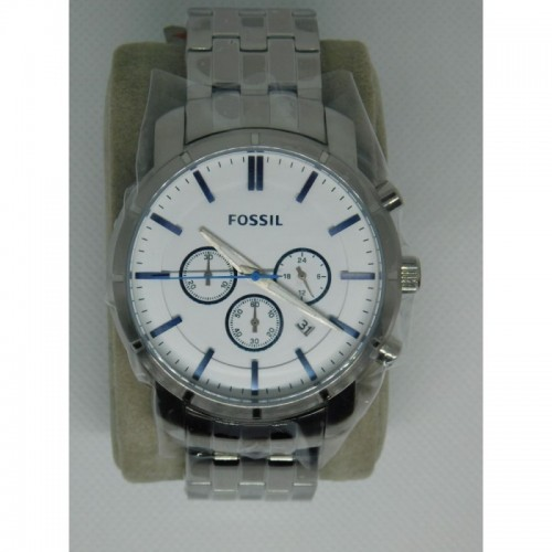 Reloj para hombre marca Fossil Stainless steel Blanco