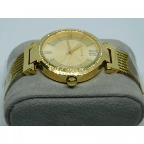 Reloj para dama marca Guess Dorado con incrustaciones